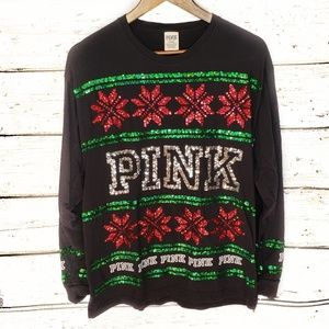 Victorias Secret PINK Campus Sequin Bling Holiday